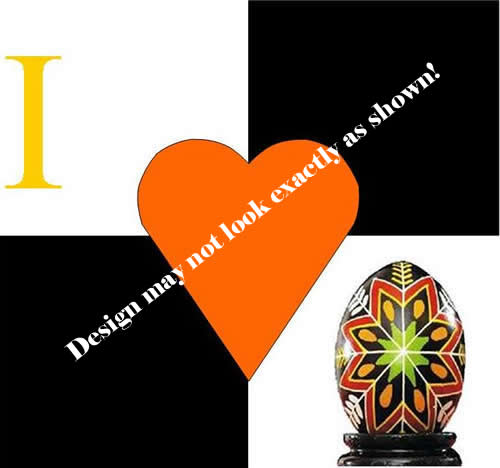 I Heart Pysanky design by Joan Brander