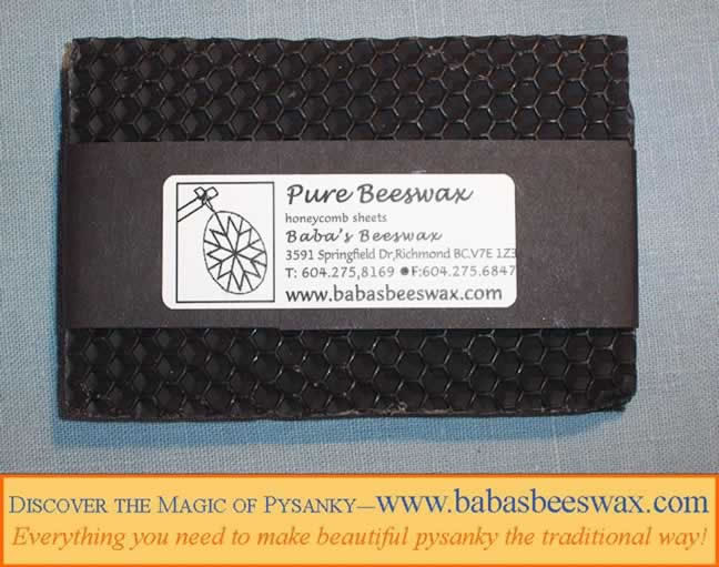 Beeswax sheets for pysanky  from babasbeeswax.com