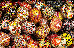 Beautiful pysanky created by Joan Brander