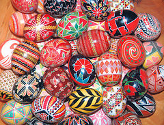 Eggs Beautiful pysanky design by Joan Brander